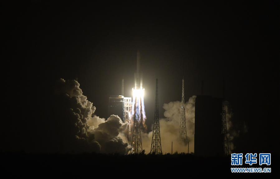 (嫦娥五號探月)(3)長徵五號遙五運載火箭將嫦娥五號探測器發射升空