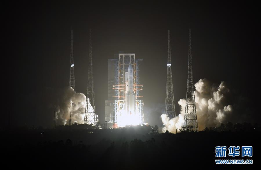 (嫦娥五號探月)(5)長徵五號遙五運載火箭將嫦娥五號探測器發射升空