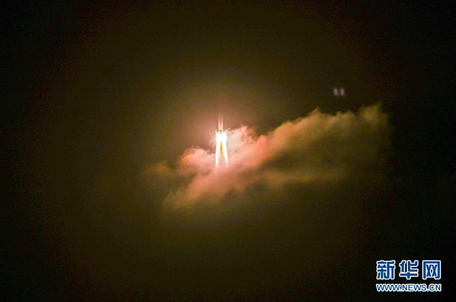 (嫦娥五號探月)(8)長徵五號遙五運載火箭將嫦娥五號探測器發射升空