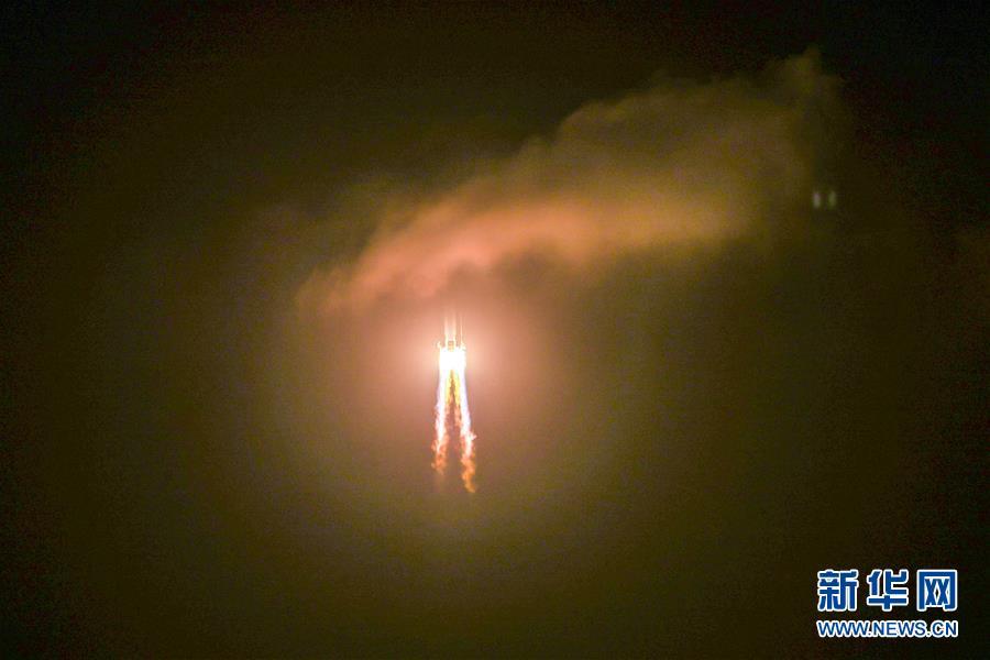 (嫦娥五號探月)(13)長徵五號遙五運載火箭將嫦娥五號探測器發射升空