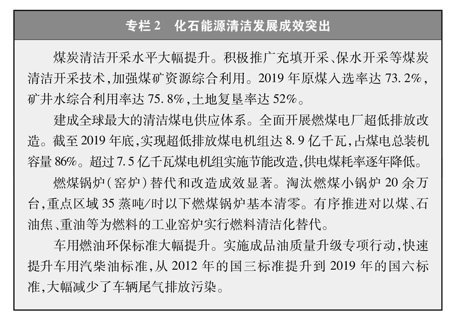 (图表)[受权发布]《新时代的中国能源发展》白皮书(专栏2)