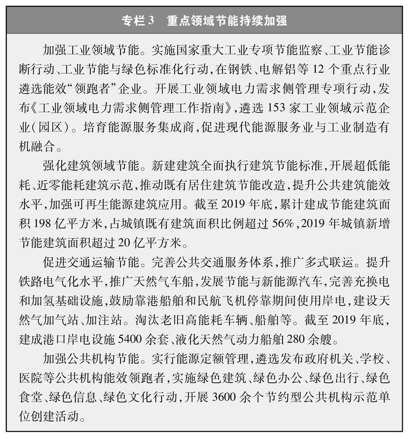 (图表)[受权发布]《新时代的中国能源发展》白皮书(专栏3)