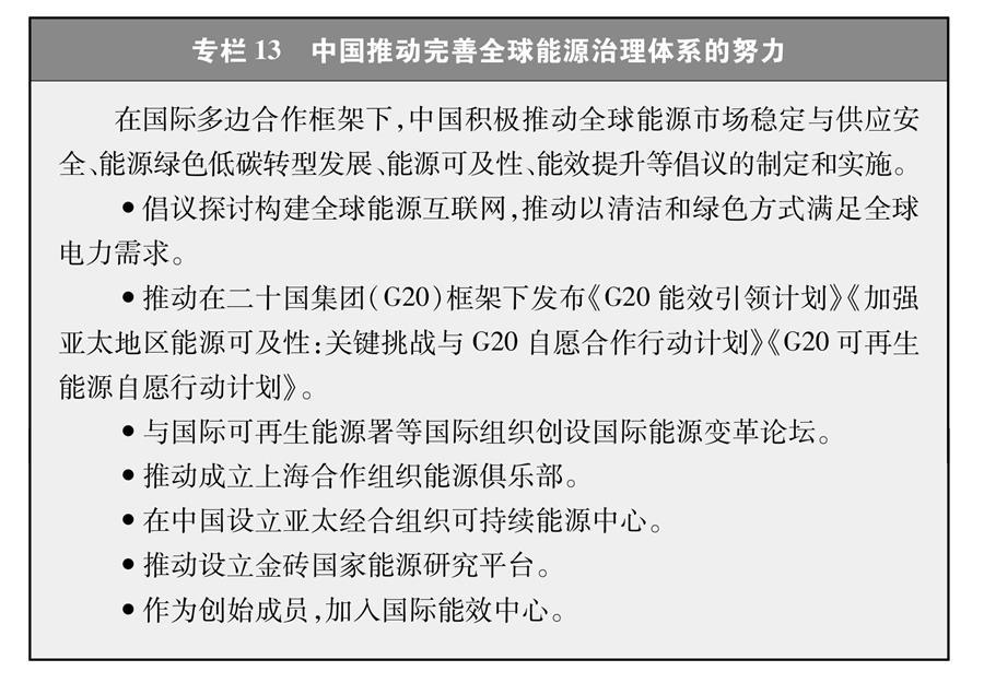 (图表)[受权发布]《新时代的中国能源发展》白皮书(专栏13)