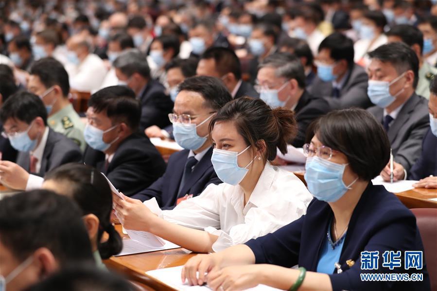 (两会·政协开幕·XHDW)(8)全国政协十三届三次会议在京开幕