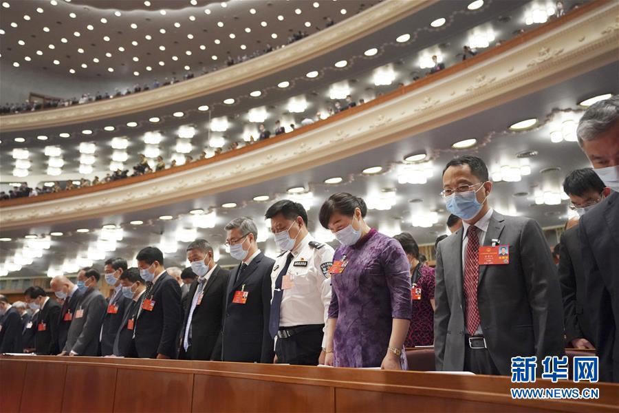 (两会·人大开幕·XHDW)(3)十三届全国人大三次会议在京开幕