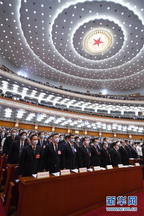 (两会·人大开幕·XHDW)(4)十三届全国人大三次会议在京开幕