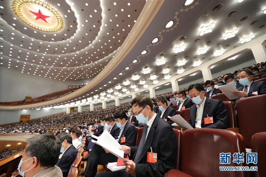 (两会·人大开幕·XHDW)(6)十三届全国人大三次会议在京开幕