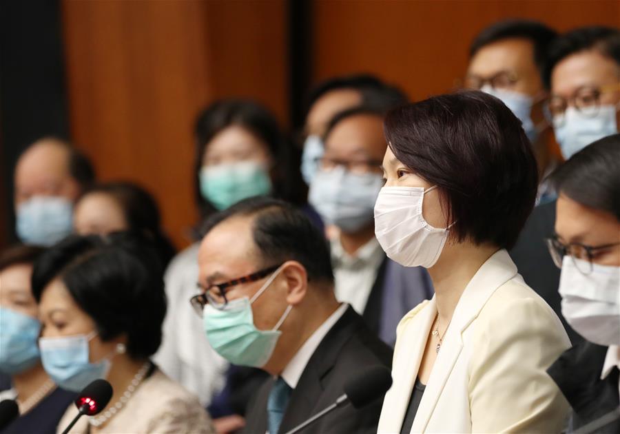 (圖文互動)(2)香港特區立法會主席和41位議員支持建立健全香港特區維護國家安全的法律制度和執行機制
