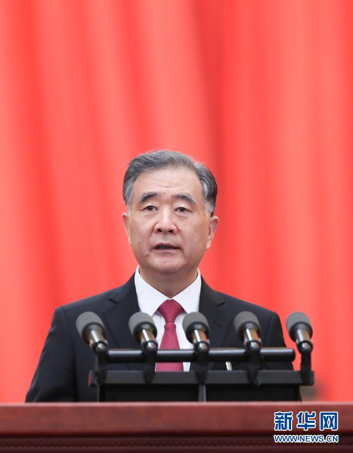 全国政协主席汪洋向大会报告工作
