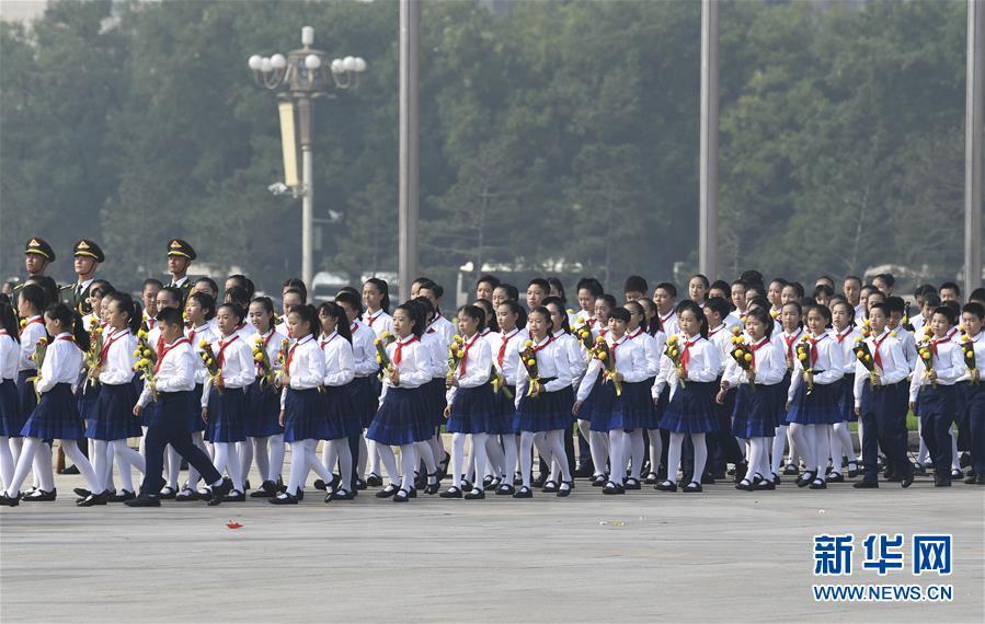 (时政)(5)烈士纪念日向人民英雄敬献花篮仪式在京隆重举行