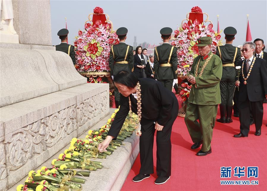 (时政)(9)烈士纪念日向人民英雄敬献花篮仪式在京隆重举行