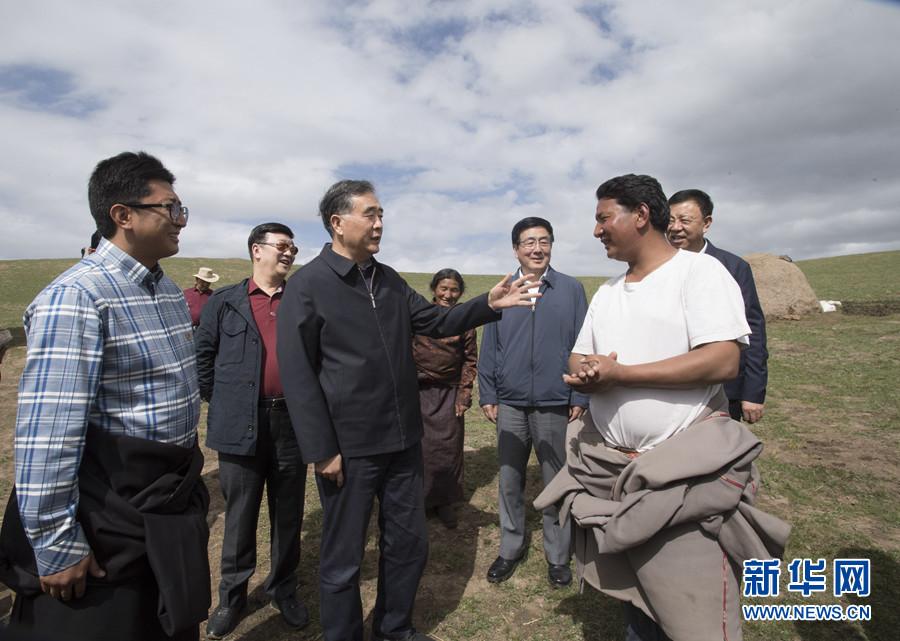 汪洋:做好民族宗教和脱贫攻坚工作 夯实藏区长治久安基础