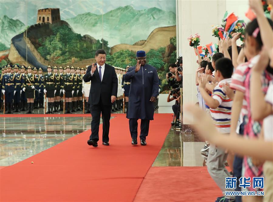 (中非合作论坛)(2)习大大同塞拉利昂总统比奥举行会谈
