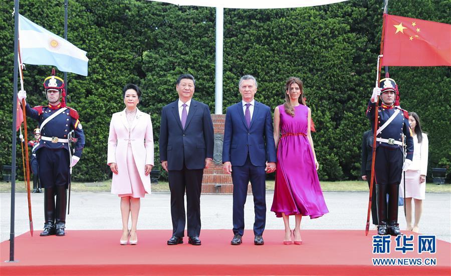 (时政)(2)习近平同阿根廷总统马克里举行谈判