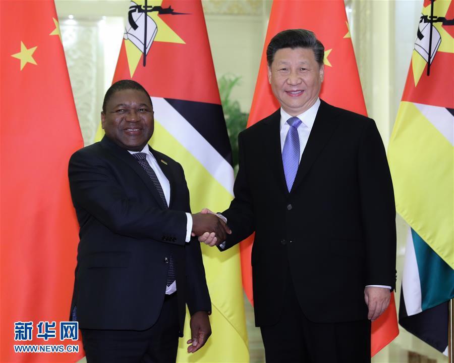 (時政)習近平會見莫桑比克總統紐西