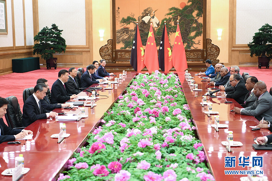 习近平会见巴布亚新几内亚总理奥尼尔