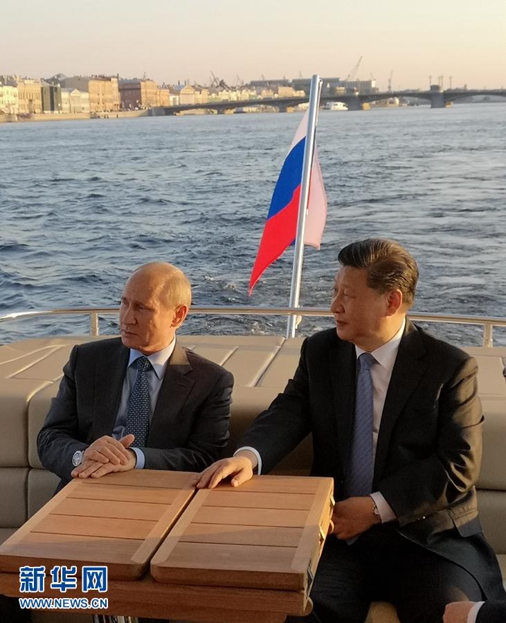 习近平同俄罗斯总统普京在圣彼得堡再次举行会晤