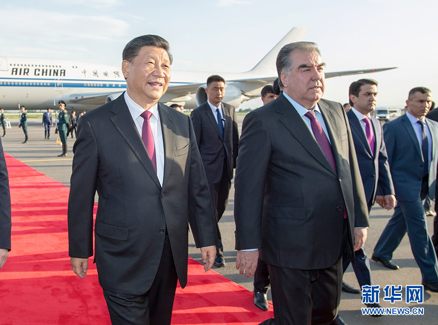 习抵达杜尚别开始出席亚洲相互协任措施会议第