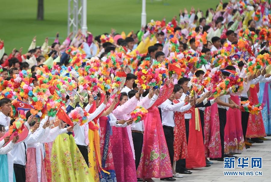 朝鲜民众热烈欢迎习近平
