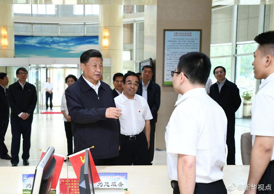 习近平在内蒙古自然资源厅指导开展主