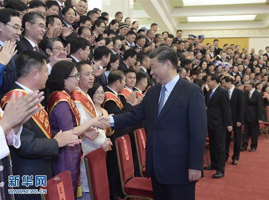 (时政)(2)习近平会见中国红十字会第十一次全国会员代表大会代表\