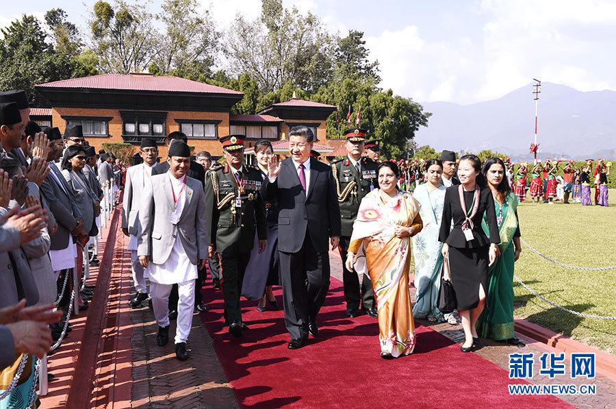 习近平结束同印度总理第二次非正式会晤和对尼泊尔国事访问