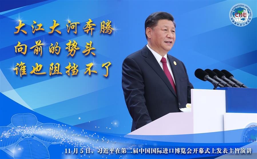 (圖表·海報)[第二屆進博會]習近平在第二屆中國國際進口博覽會開幕式上發表主旨演講(2)