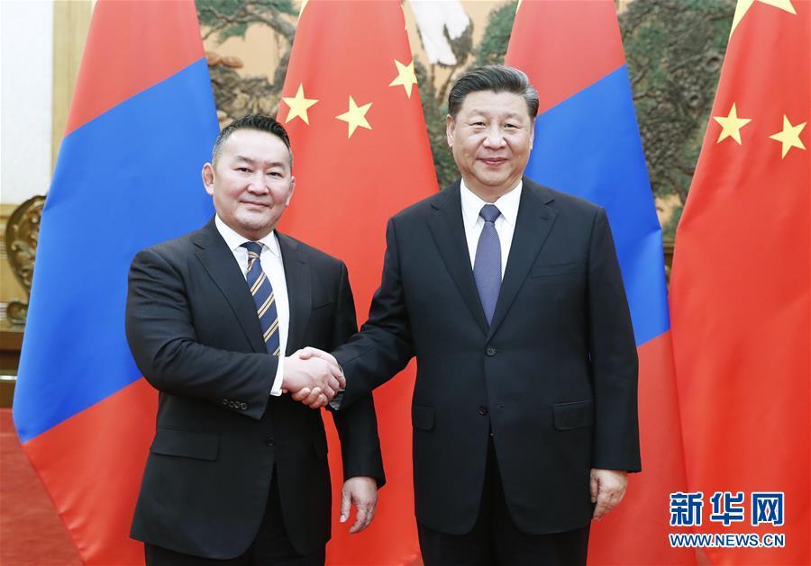 (時政)習近平同蒙古國總統巴特圖勒嘎會談
