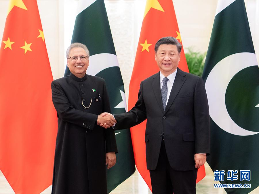 习近平同巴基斯坦总统阿尔维会谈