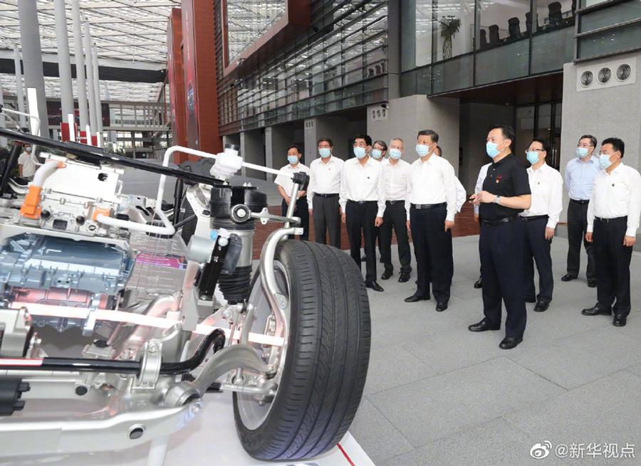 习近平:一定要把民族汽车品牌搞上去