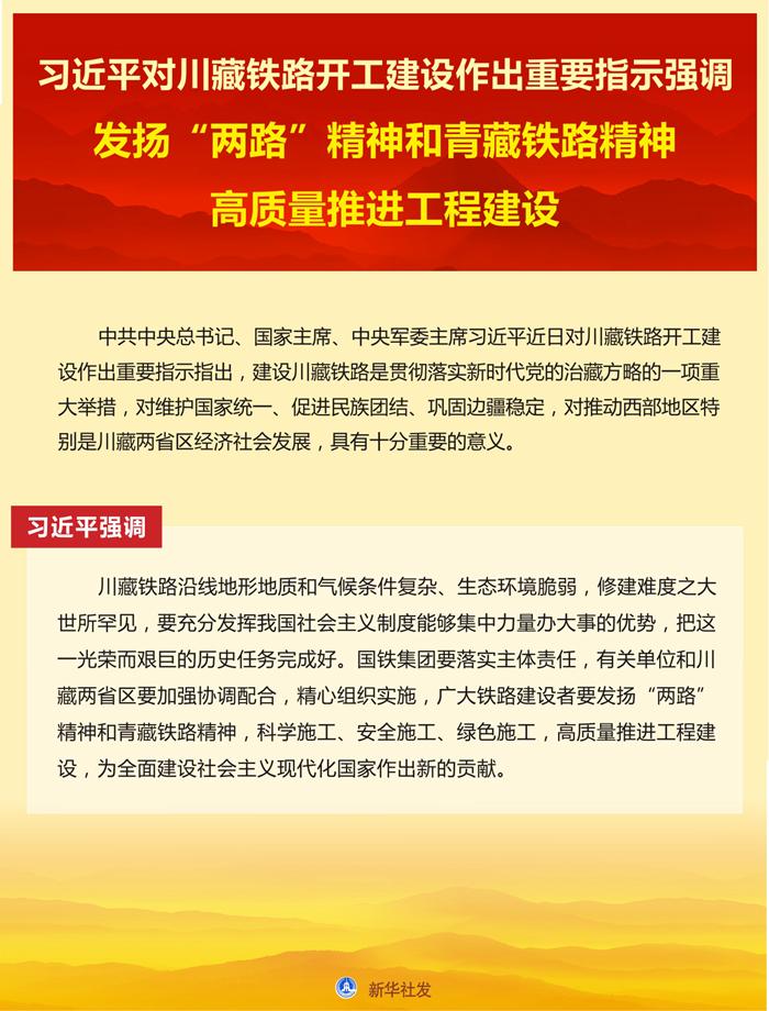 习近平对川藏铁路开工建设作出重要指示