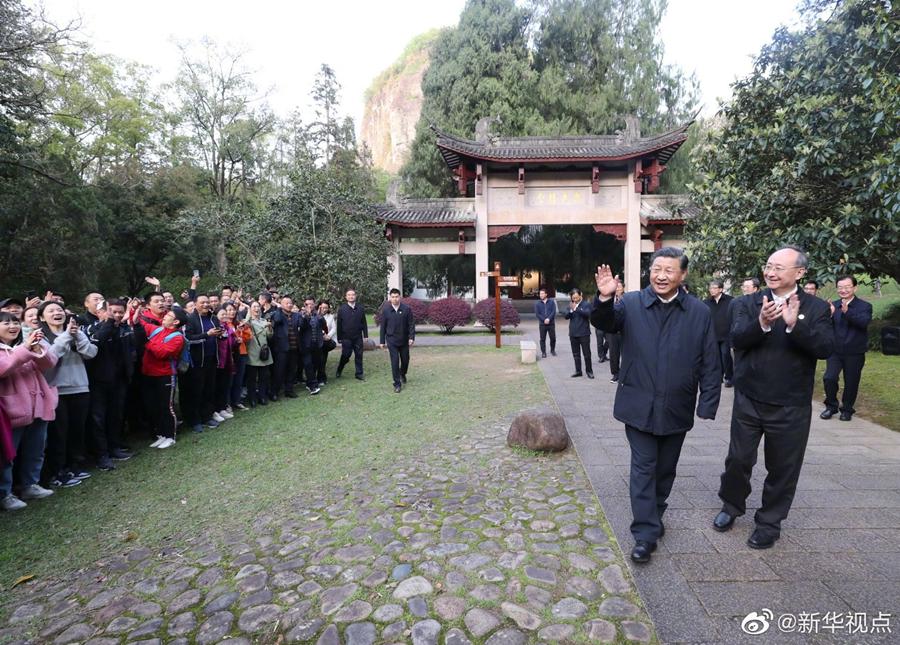 习近平考察朱熹园谈文化自信:没有中华五千年文明,…