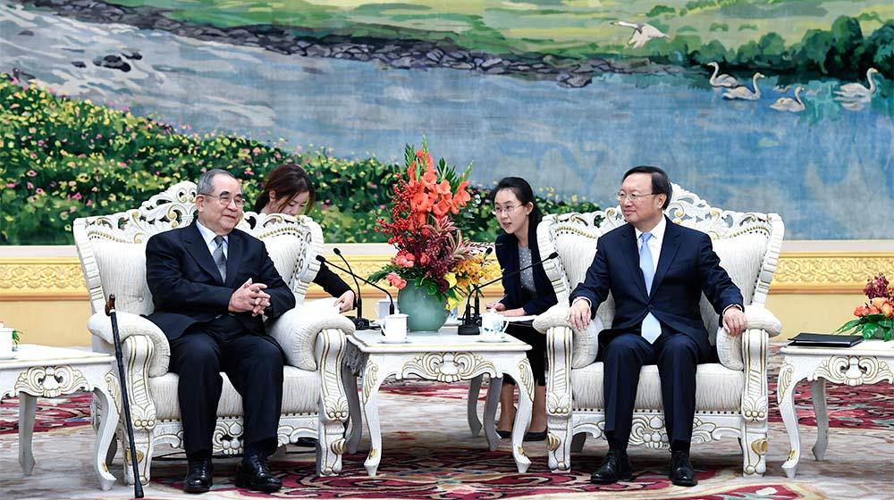 楊潔篪會見韓國前總理李壽成一行