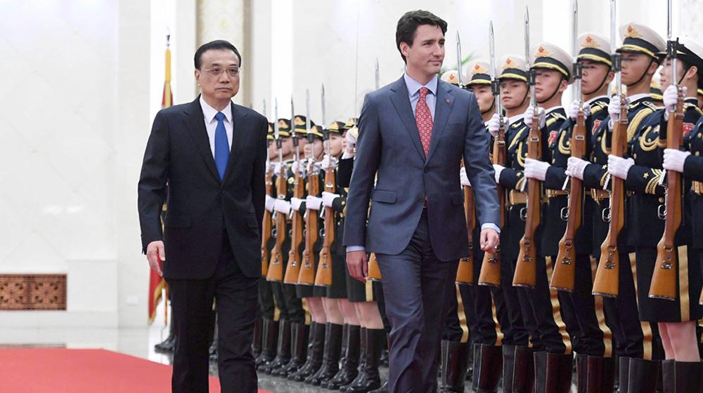 李克强同加拿大总理特鲁多举行第二次中加总理年度对话 两国总理共同