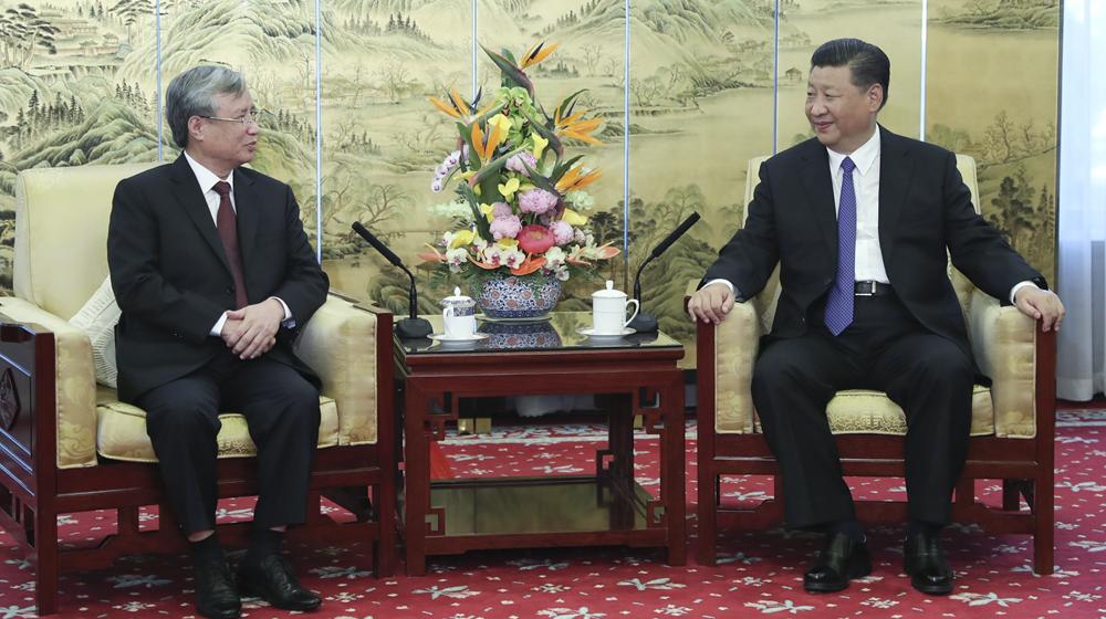 习总书记会见越共中央政治局委员、中央书记处常务书记陈国旺
