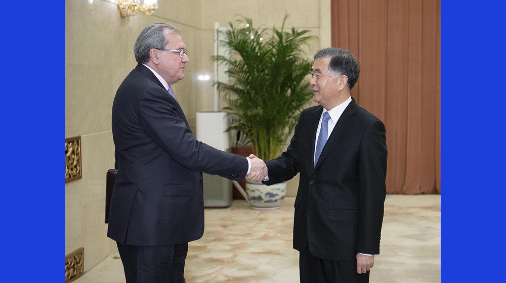 汪洋會見俄羅斯聯邦公眾院主席法捷耶夫