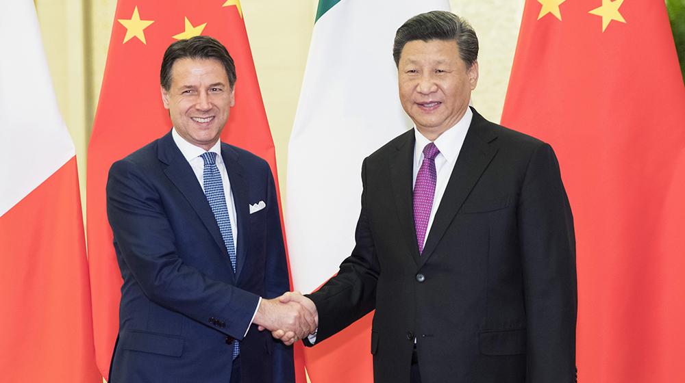 習近平會見意大利總理孔特