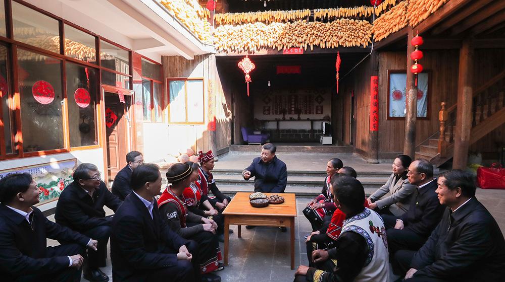 習近平春節前夕赴雲南看望慰問各族幹部群眾