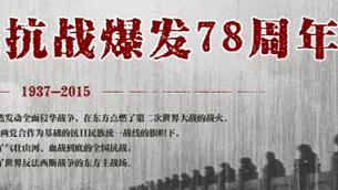 紀念全民族抗戰爆發78周年