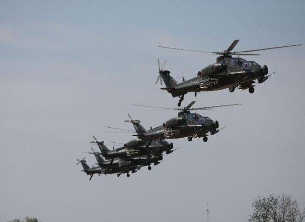 受閱直升機起飛