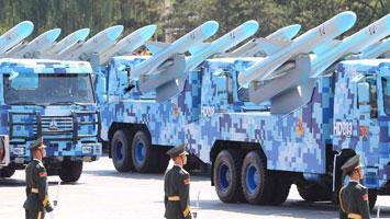 反艦導彈方隊通過天安門廣場
