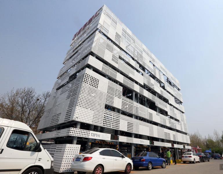 北京建立体停车楼 2.5个车位可停16辆车