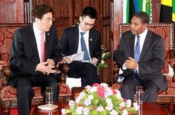 郭金龍會見坦桑尼亞桑給巴爾總統謝因