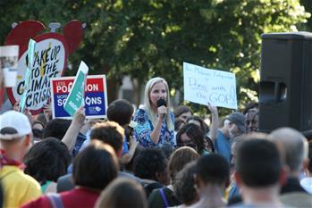 美宣布退出《巴黎協定》 民眾在白宮外抗議