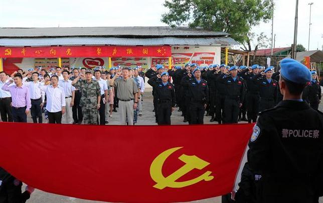 中國維和警察首個海外黨建教育展廳揭牌