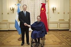 杜青林會見阿根廷代總統米切蒂