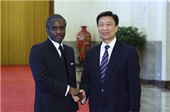 李源潮與赤道幾內亞副總統曼格會談