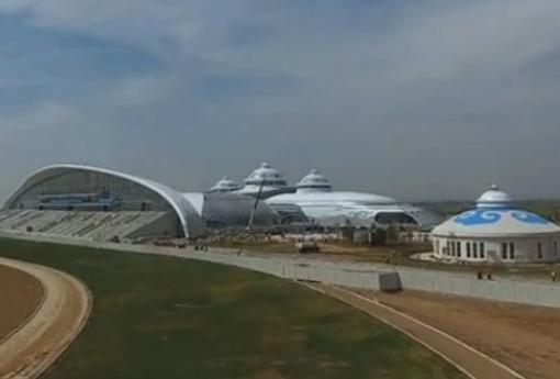 航拍内蒙古少数民族群众文化体育运动中心