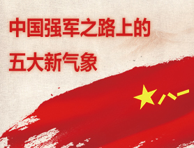 中國強軍之路上的五大新氣象