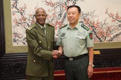 范長龍會見埃塞俄比亞國防軍總參謀長